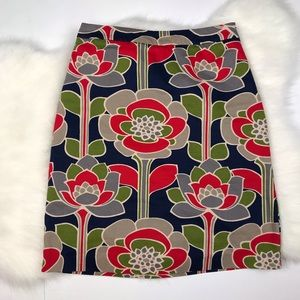 Boden Floral Boho Retro Skirt Pencil Slim 4
